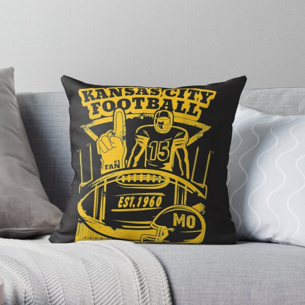 Kansas City Retro Vintage Kc Football Missouri 2020 Gift  Throw Pillow