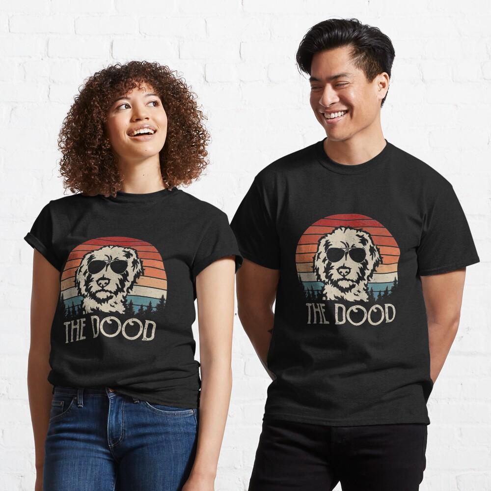 Vintage Goldendoodle The Dood Dad Mom Kids  Classic T-Shirt