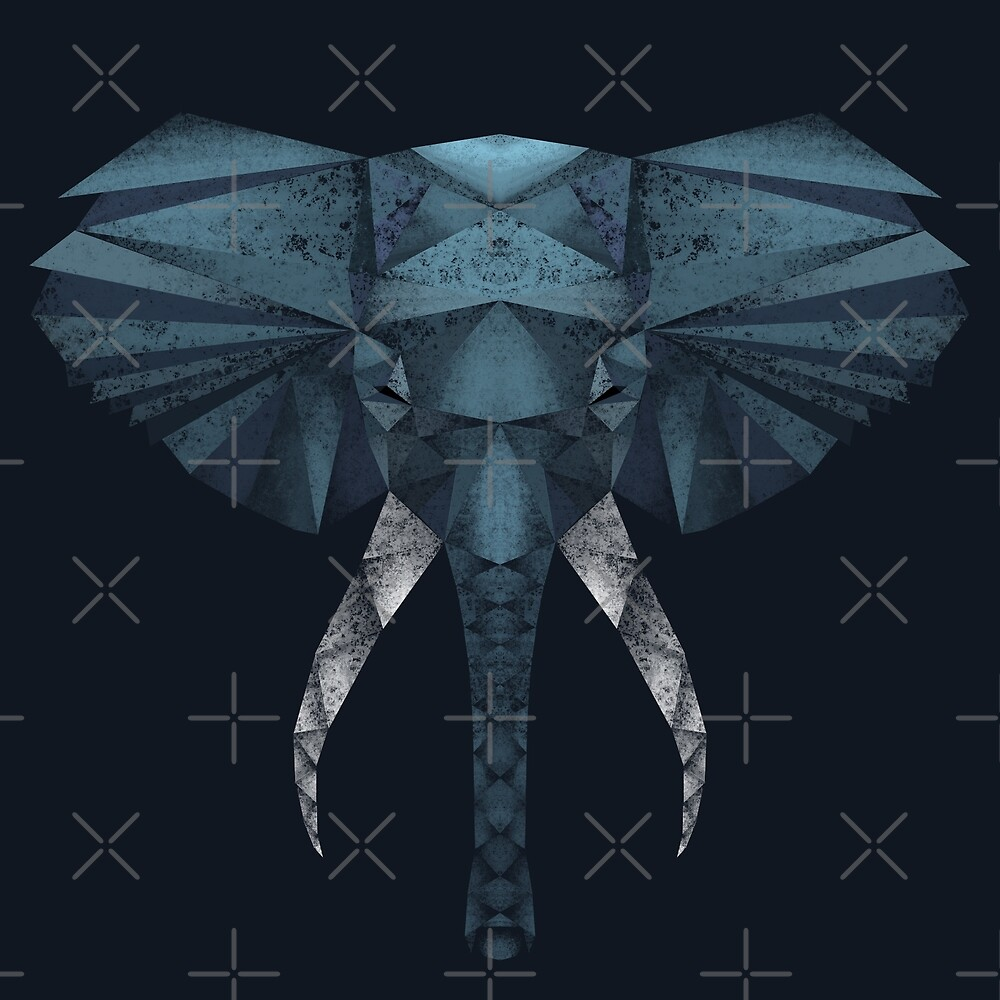 Low Poly - Elephant by zladyluthien