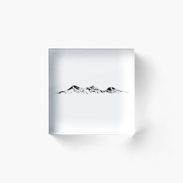 Sisters Mountains Acrylic Block