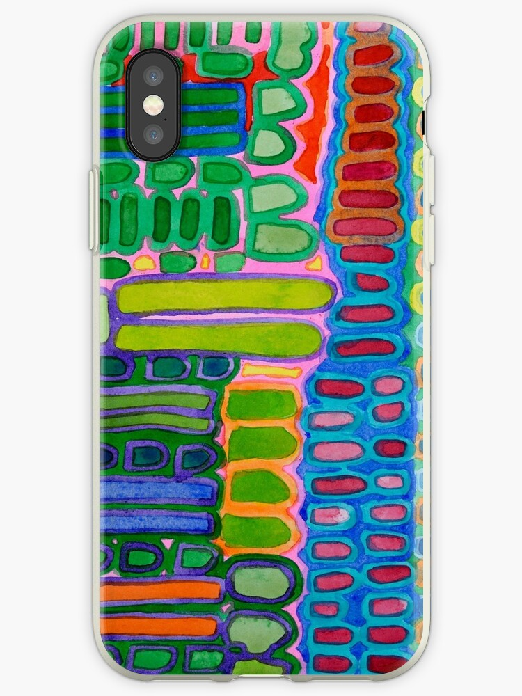 Colorful elongated Forms Pattern by Heidi Capitaine