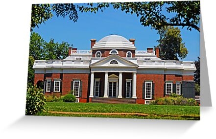 Monticello, Home of Thomas Jefferson by johnnycdesigns