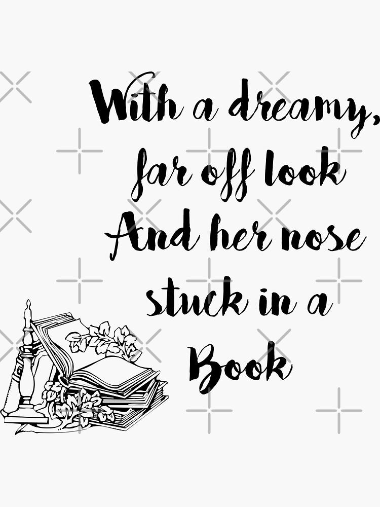 Nariz atascada en un libro - Blanco de EternallyBooked