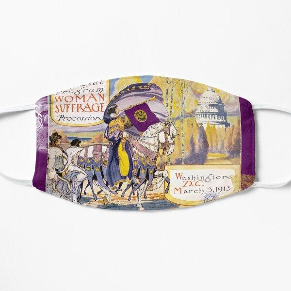 Women's March On Washington 1913, Women's Suffrage With Gorgeous Purple Embellishments,  Mask