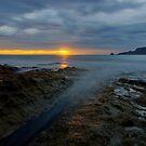 HDR - Sunrise on rocks at Adventure Bay, Bruny Island, Tasmania, Australia by PC1134