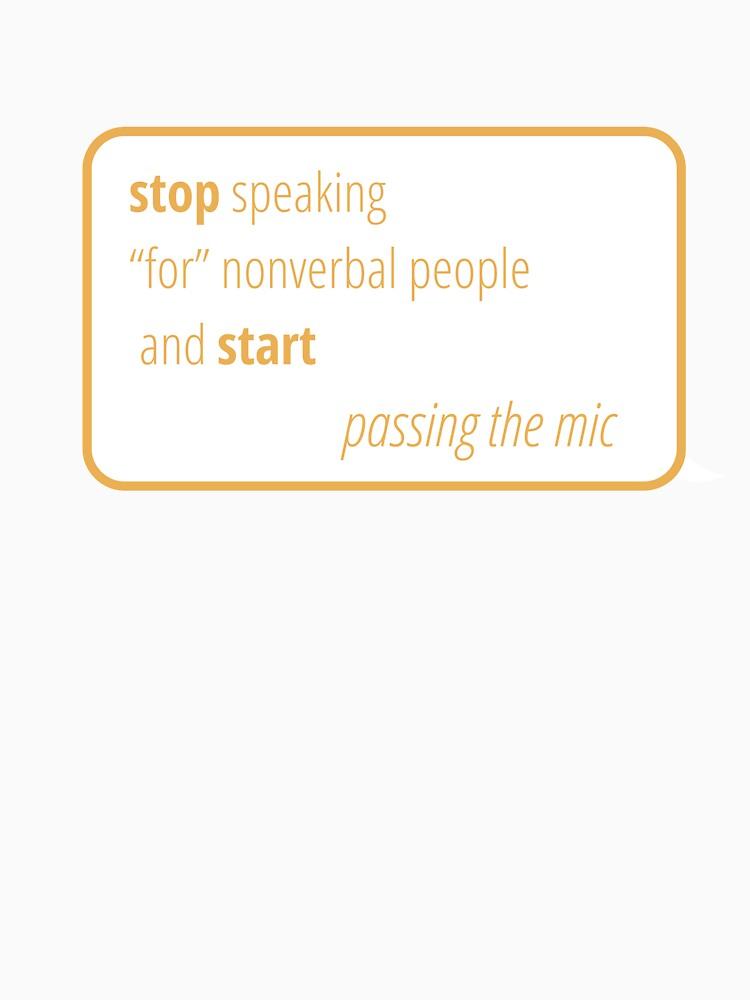 Geben Sie das Mikrofon an nonverbale Personen weiter von aureateAubade