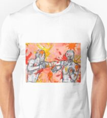 Red Painted Fight Unisex T-Shirt