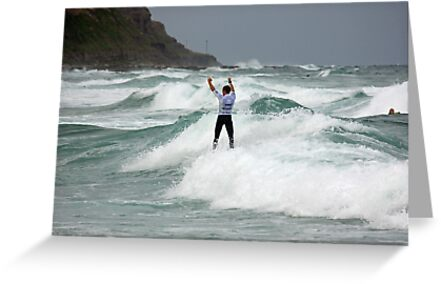 Matt Banting - Victory Salute At The Burton Toyota Pro 2014 by reflector