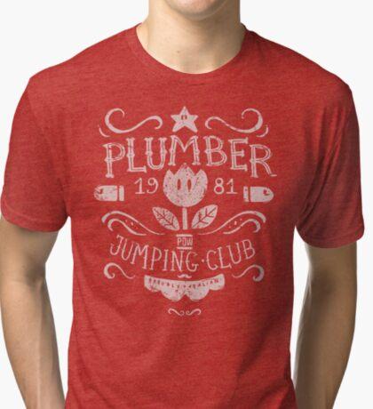 Plumber Jumping Club Tri-blend T-Shirt