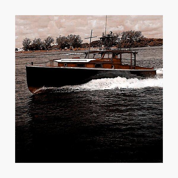 Vintage Hemingway Pilar Boat Photographic Print