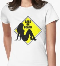Babe on Board Women's Fitted T-Shirt