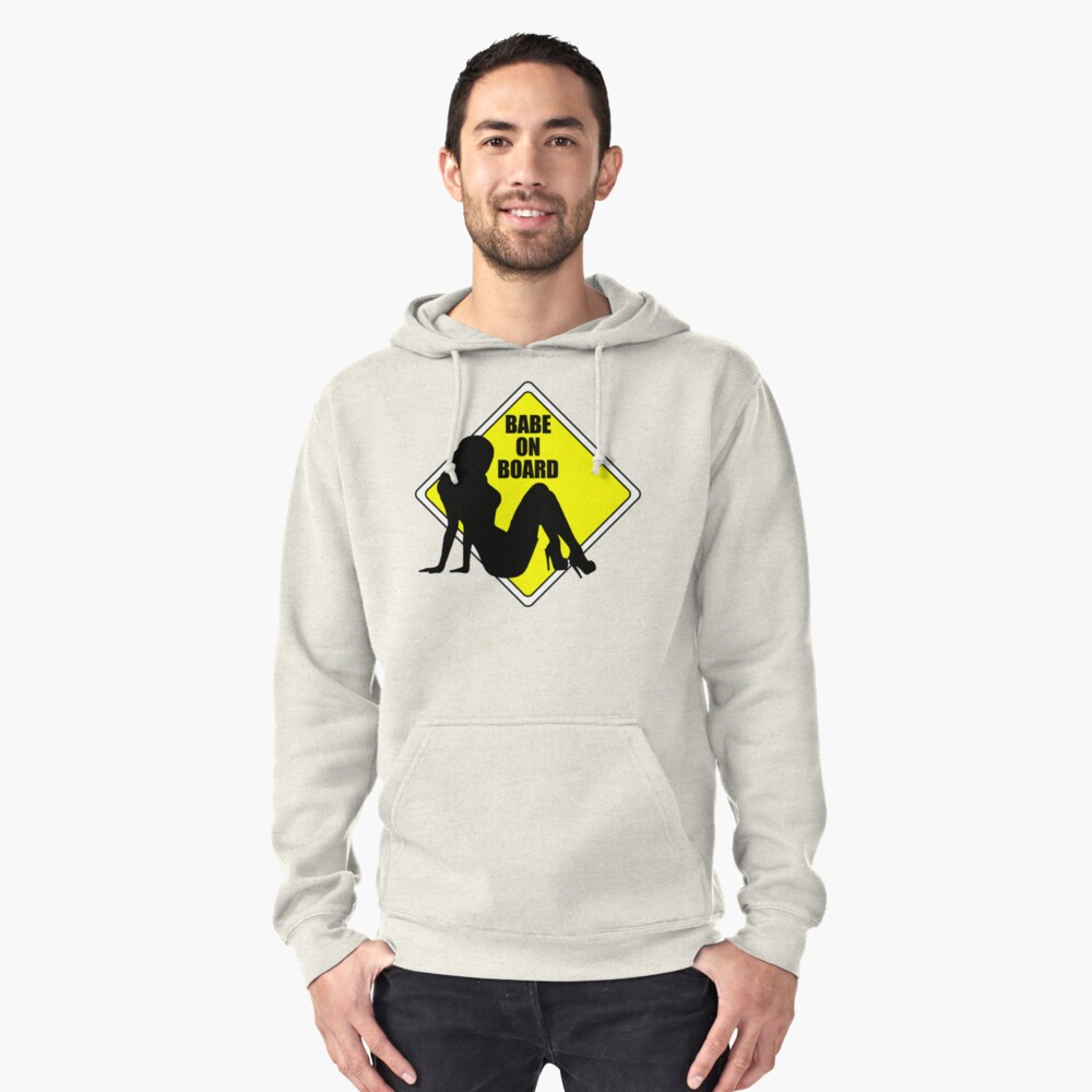 "babe on board"" pullover hoodieperrinlefeuvre 