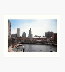 Waterplace Park - Providence, RI Art Print