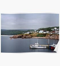 Harbour off the Cabot Trail Poster