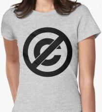 Public Domain Symbol, Copyleft Womens Fitted T-Shirt
