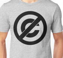Public Domain Symbol, Copyleft Unisex T-Shirt