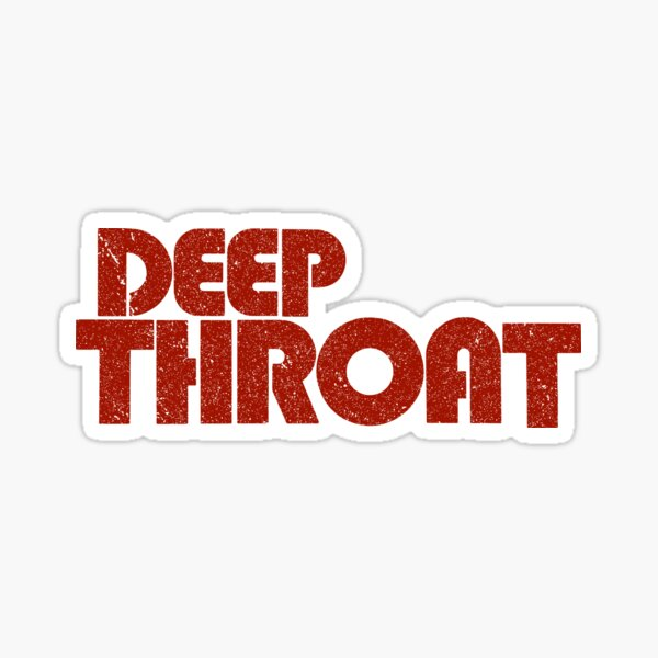 Deep Throat logo (Vintage/Distressed)  Sticker