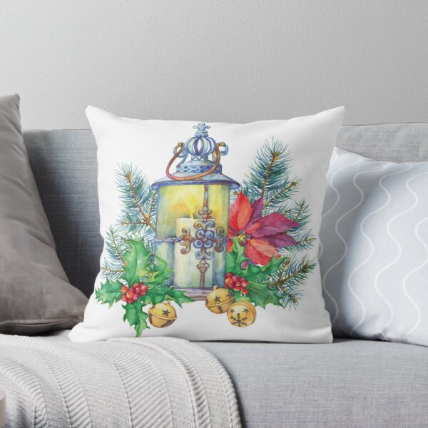 Christmas Tree Funny Arts Throw Pillow
