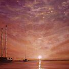 Purple Sunset at Sea... by Cherie Roe Dirksen