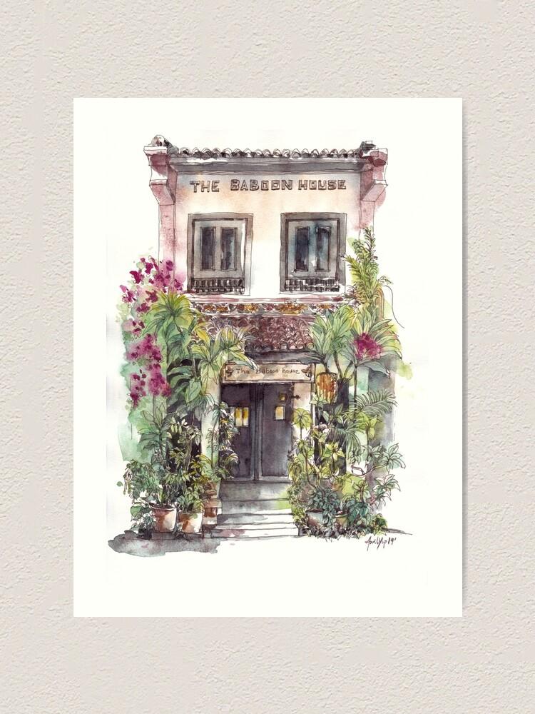 Alternate view of A Cafe in Melaka Art Print
