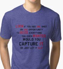 EMINEM MOTIVATIONNAL SHIRT BLACK&RED Tri-blend T-Shirt