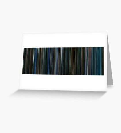 Moviebarcode: Watchmen (2009) Greeting Card