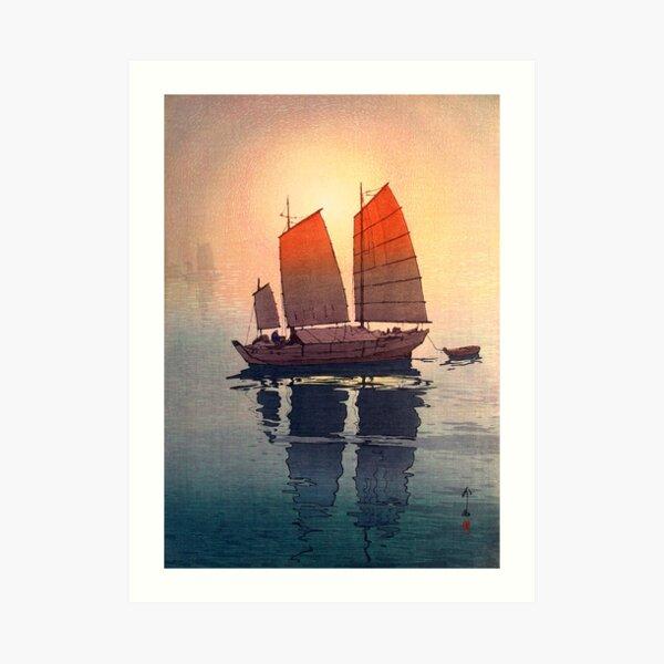 Yoshida Hiroshi - Sailing Boats in the Morning Art Print