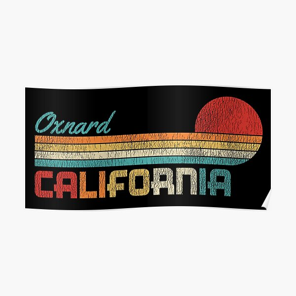 Oxnard California Vintage Distressed Sunset Poster