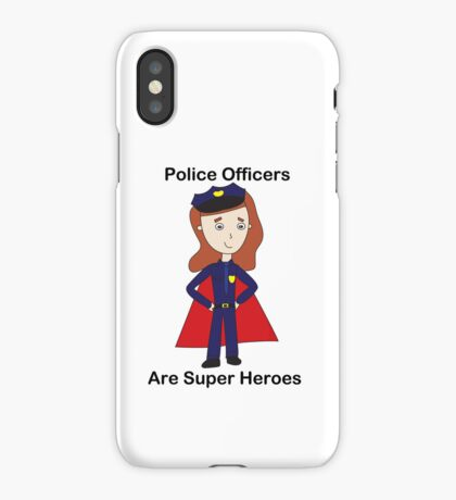 Police Officers Super Heroes (Female) iPhone Case/Skin