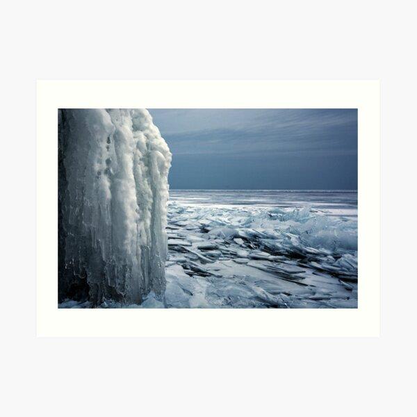 The Gray Hour - Lake Superior Art Print