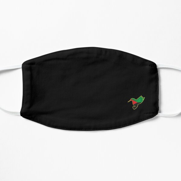 Colibri drapeau martinique  Masque sans plis