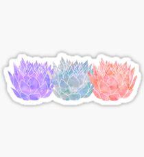 Triple Lotus 2 Sticker