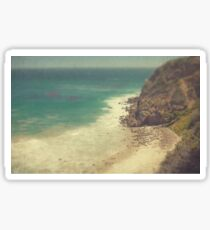 Vintage Malibu Beach Print Sticker