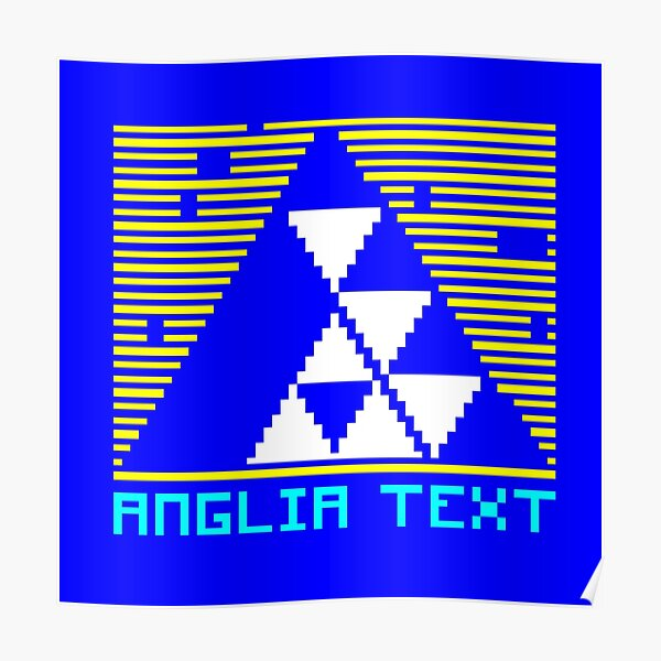 Anglia Television logo - Ceefax Poster