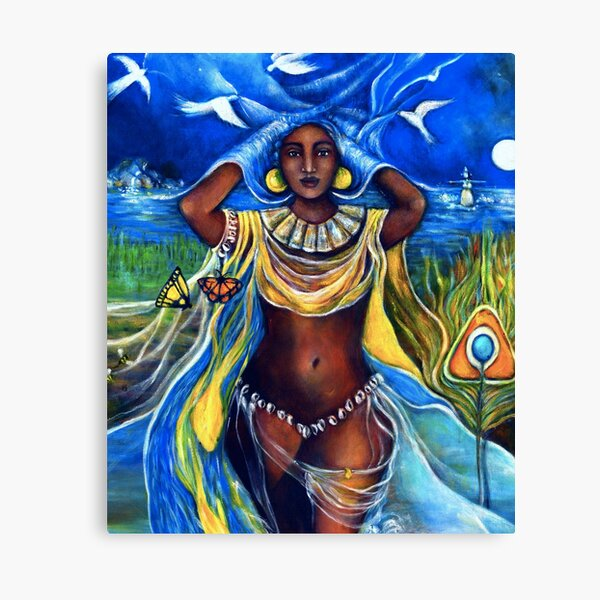 oshun, yemaya, ifa, santaria, ocean, water, yoruba, africa, panafrica, african, panafrican, diaspora Canvas Print