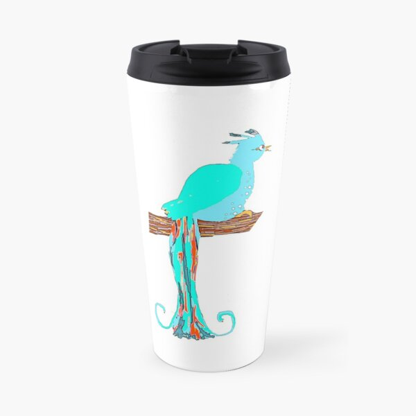 Small bird with big tail Travel Mug