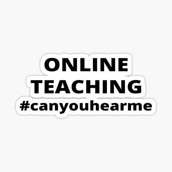 Online teaching  Sticker