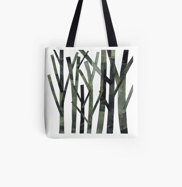 Trees All Over Print Tote Bag