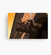 OPEN - Vintage Sign Canvas Print