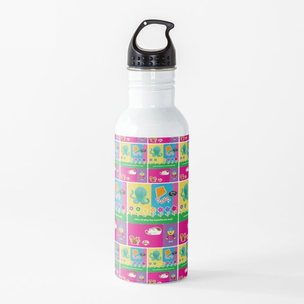 Charlie`s Colorforms City, lets all play the colorforms way Water Bottle