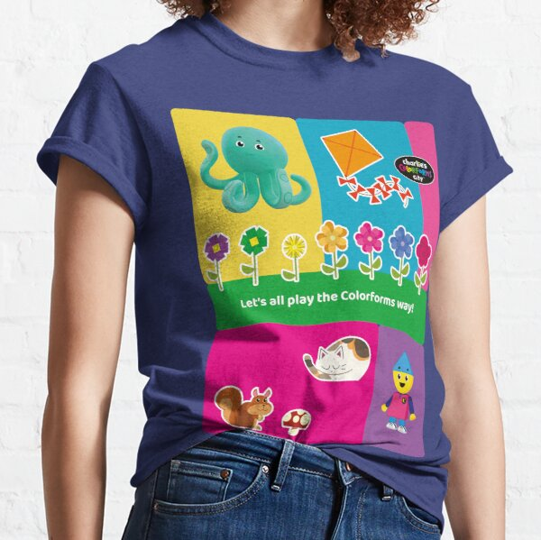 Charlie`s Colorforms City, lets all play the colorforms way Classic T-Shirt