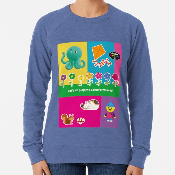 Charlie`s Colorforms City, lets all play the colorforms way Lightweight Sweatshirt