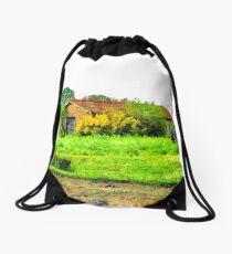 Rural building Drawstring Bag