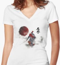 Way of the Samurai (3) Women's Fitted V-Neck T-Shirt