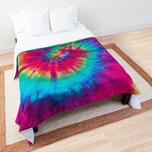 Vibrant Colours Tie Dye Pattern Rainbow D Comforter