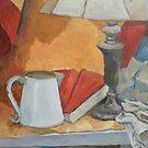 Golden Lamp II (Still Life) by Deborah Pritchett