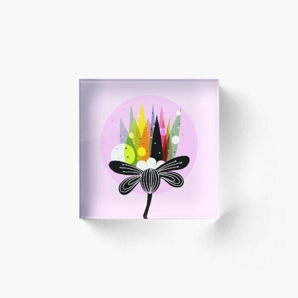 Floral fairytale Acrylic Block