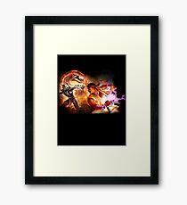 Fighting Games Collide Framed Print