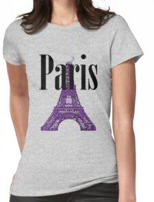 Paris, France - Eiffel Tower Womens Fitted T-Shirt