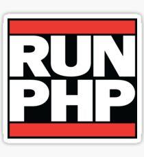 RUN PHP Sticker